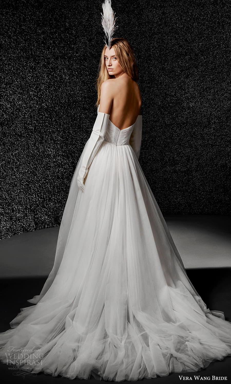 vera wang bride pronovias fall 2021 bridal strapless sweetheart neckline ruched bodice ball gown wedding dress chapel train (40) mv